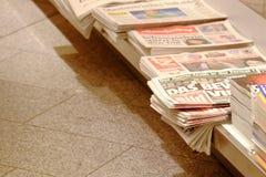 Duitse dagelijkse kranten Stock Foto