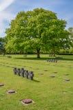 Duitse de oorlogsbegraafplaats van La Cambe in Normandië, Frankrijk stock afbeeldingen