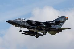 Duitse de Tornadoecr van Luchtmachtluftwaffe Panavia Elektrische Gevecht/Verkenningsvliegtuigen Royalty-vrije Stock Foto