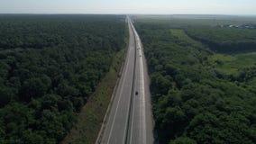Duitse die autosnelwegen hierboven worden gezien van, auto's het drijven