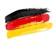 Duitse die vlag van kwaststreken wordt gemaakt Vectordiegrungevlag van Duitsland op witte achtergrond wordt geïsoleerd royalty-vrije illustratie