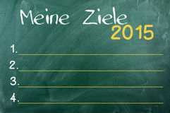 2015 Duitse doelstellingen, Royalty-vrije Stock Fotografie