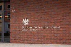 Duitse Federale intelligentie bundesnachrichtendienst in Berlijn Duitsland royalty-vrije stock afbeelding