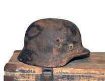 Duitse helm van de Tweede Wereldoorlog Stock Fotografie