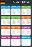 Duitse Kalender voor 2018 Planner, agenda of agendamalplaatje Royalty-vrije Stock Foto's
