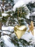 Duitse Kerstmisboom met eigengemaakte ornamenten Royalty-vrije Stock Foto