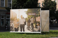 Duitse lokale elections_make sterker Berlijn Stock Foto
