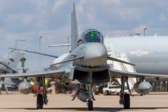 Duitse Luchtmacht Luftwaffe Eurofighter EF-2000 straalvliegtuigen van de Tyfoonvechter Stock Afbeelding