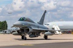Duitse Luchtmacht Luftwaffe Eurofighter EF-2000 straalvliegtuigen van de Tyfoonvechter Royalty-vrije Stock Afbeeldingen