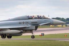 Duitse Luchtmacht Luftwaffe Eurofighter EF-2000 straalvliegtuigen van de Tyfoonvechter Stock Foto