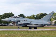 Duitse Luchtmacht Luftwaffe Eurofighter EF-2000 vliegtuigen van de Tyfoon veelzijdige vechter Stock Fotografie