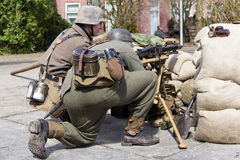 Duitse machinegeweerbemanning Royalty-vrije Stock Afbeeldingen