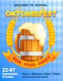 Duitse meest oktoberfest conceptenbanner, beeldverhaalstijl vector illustratie