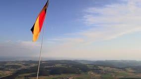 Duitse nationale vlag terwijl het ballooning stock video