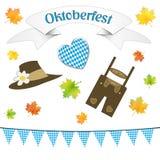 Duitse oktober-geïsoleerde partijsymbolen Stock Foto's
