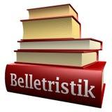 Duitse onderwijsboeken - literatuur Stock Foto's