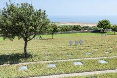 Duitse oorlogsbegraafplaats Maleme Stock Afbeeldingen