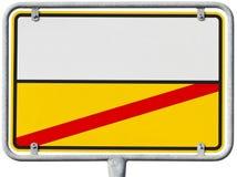 Duitse ortsschild (het knippen inbegrepen weg) Stock Foto's