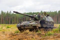 Duitse Panzerhaubitze 2000 Stock Foto's