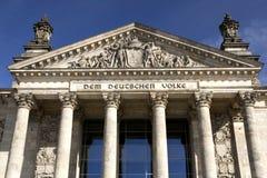 Duitse Reichstag in Berlijn Stock Foto's