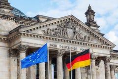 Duitse Reichstag in Berlijn, Duitsland Stock Foto