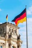 Duitse Reichstag in Berlijn, Duitsland Stock Afbeelding