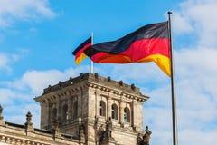 Duitse Reichstag in Berlijn, Duitsland Stock Afbeeldingen