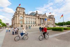 Duitse Reichstag in Berlijn, Duitsland Royalty-vrije Stock Foto's