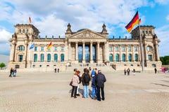 Duitse Reichstag in Berlijn, Duitsland Royalty-vrije Stock Fotografie