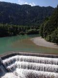 Duitse rivier stock fotografie