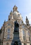 Duitse Stad Dresden met kerk Frauenkirche stock foto