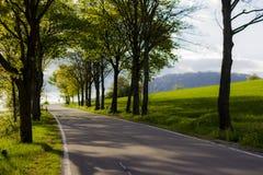 Duitse steegweg tijdens zonsondergangtijd Royalty-vrije Stock Fotografie
