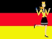 Duitse stewardess vector illustratie