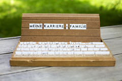 Duitse tekst: Meine Karriere Familie Royalty-vrije Stock Afbeelding