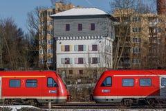 Duitse trein Royalty-vrije Stock Foto's
