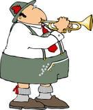 Duitse Trompetter stock illustratie