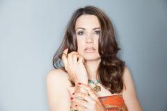 Duitse TV-Gastheer Moderatorin Julia Bauer royalty-vrije stock foto