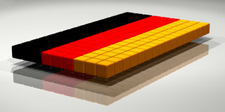 Duitse Vlag Royalty-vrije Stock Fotografie