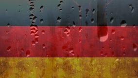 Duitse vlag met condensatie stock footage