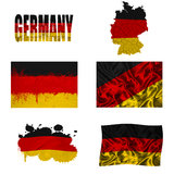 Duitse vlagcollage Stock Afbeelding