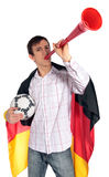 Duitse voetbalventilator Stock Fotografie