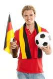 Duitse voetbalventilator Royalty-vrije Stock Foto's