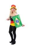 Duitse voetbalventilator Royalty-vrije Stock Foto