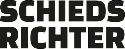 Duitse woordscheidsrechter stock illustratie