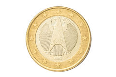 Duitsland één euro muntstuk Royalty-vrije Stock Afbeelding