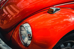 DUITSLAND, BOCHUM, 07 MEI, 2016 Uitstekende retro rode oude auto Royalty-vrije Stock Afbeelding