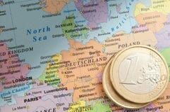 Duitsland en de euro Stock Foto's