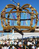 Duitsland, München, Oktoberfest, Traditionele Erntedankkrone royalty-vrije stock foto's