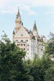 Duitsland, München - September 06, 2013 Het huis van het Neuschwansteinkasteel van Koning Ludwig anders als genomen die het Kaste stock afbeelding