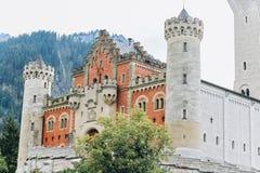 Duitsland, München - September 06, 2013 Hohenschwangaukasteel in de Beierse Alpen stock foto's